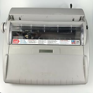 Brother Sx 4000 Electronic Typewriter Lcd Display W Keyboard Cover