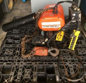 Cm Lodestar 2 Ton Electric Chain Hoist With Power Trolley