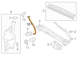 For Toyota Genuine Windshield Washer Hose Front 8537406160