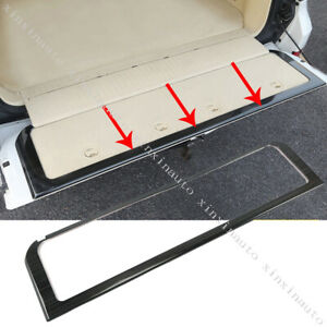 Black Rear Trunk Tailgate Frame Molding Cover Trim For Toyota Land Cruiser Lc200