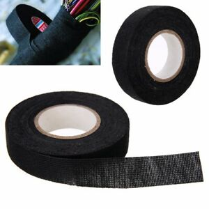 19mmx 15m Adhesive Cloth Fabric Tape Cable Looms Wiring Harness For Car Auto