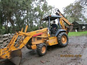 Case Backhoe 580 Super L 4in1 Extenda Hoe Aux Hydra For Drill Or Hammer 2 Bucket