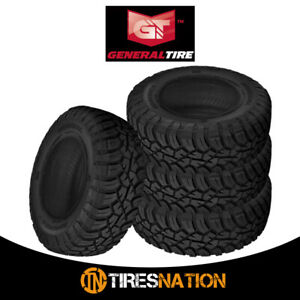 4 New General Grabber X3 35x12 50r17lt 121q E 10 Tires