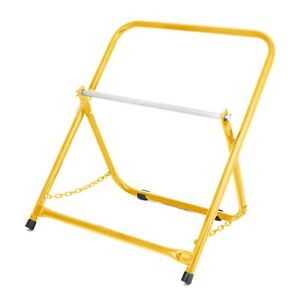 Adirpro Yellow Portable Electrical Wire Spool Caddy Foldable Cable Rack Holder
