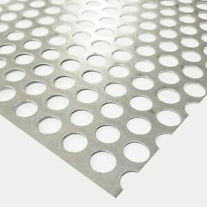 Galvanized Steel Perforated Sheet 0 028 X 24 X 24 1 2 Holes