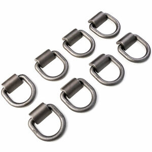 8x Extra Heavy Duty D Rings With Weld On Clips 4 000 Lbs Working Load Limit