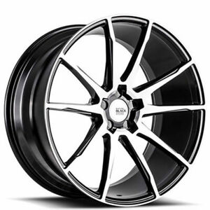 20 Staggered Savini Wheels Black Di Forza Bm12 Machined Rims Fit Ford Mustang