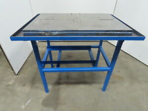 36 X 24 X 37 Tall Work Assembly Fabrication Machine Base Steel Table
