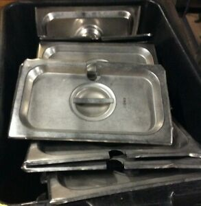 Used Lot Of 10 1 4 Size Stainless Steel 6 Deep Steam Pan