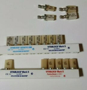 Vita Vitablocs Blocks Dental Teeth Various Sizes Assortment Tooth Mark 2 Ii