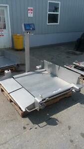 Mettler Toledo 610429004 1000lb Floor Scale Ind560 Harsh Indicator 2888 Ld Cell