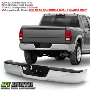 2009 2018 Dodge Ram 1500 10 12 2500 3500 Complete Chrome Rear Bumper Assembly