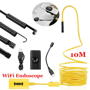 10m 8mm Android Endoscope Waterproof Snake 8led Borescope Usb Inspection Camera
