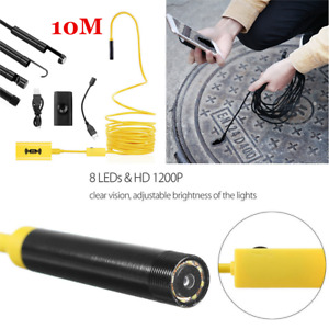 10m Wireless Wifi Endoscope Borescope Inspection Camera Usb For Iphone