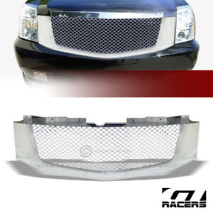 For 2007 2014 Cadillac Escalade ext Chrome Mesh Front Hood Bumper Grille Guard