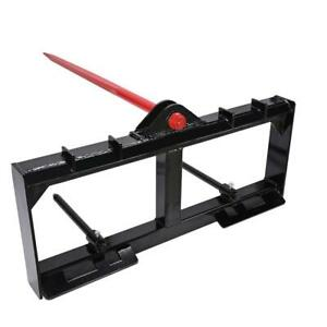 Hd Frame 49 Tractor Hay Spear 2 Stabilizers Spike Skid Steer 3000lb Capacity