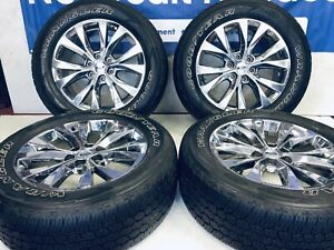 20 Ford F150 F 150 King Ranch Oem Factory Rims Wheels Tires Pvd Chrome Hn 10003
