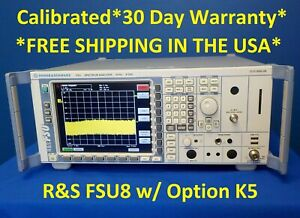 Rohde And Schwarz R s Fsu8 W Option K5 Spectrum Analyzer Fsu 8 20 Hz 8 Ghz