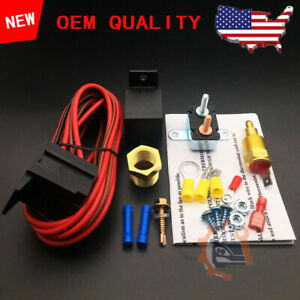 Electric Fan Wiring Install Kit Complete Thermostat 60 Amp Relay 185 Sbc Bbc Us