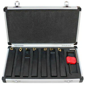 7 Pc 5 8 Indexable Carbide Turning Lathe Tool Set Sclcl Sdjcr Swgcr Sdncn