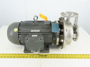 Scot Pump 3413k103 10hp 2x1 5 208 230 460v Stainless Steel Centrifugal Pump