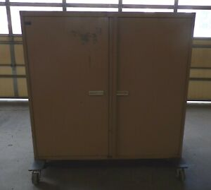 Stanley Vidmar Industrial Storage Cabinet 60 X 28 X 59 2 door 4 shelves