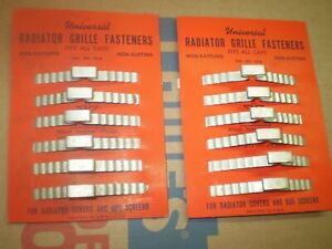 1930 40 50 S Chevy Ford Mopar Radiator Grill Fastener S On Display Cards Pair