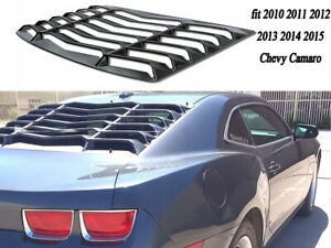 For 2010 2015 Chevy Camaro Ss Rear Window Louvers Gt Lambo Sun Shade Cover Abs