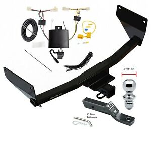 Trailer Tow Hitch For 19 20 Toyota Rav4 Complete Package W Wiring