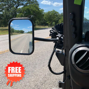 Door Off Mirrors Side Rear View Mirror For Jeep Wrangler 1997 2017 Tj
