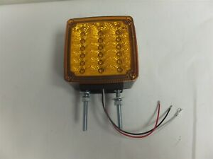 Ecv4fptmk Sound Off Road Side Amber Red Two Stud Mount Led Dual Face