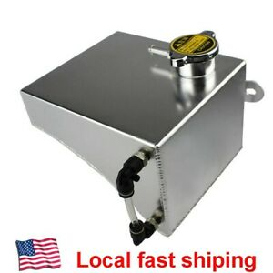 Aluminum Coolant Overflow Tank Reservoir Can For 240sx S13 Sr20det Ka24de Ka24e