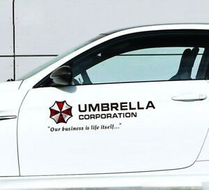2x Umbrella Corporation Decal Vinyl Car Stickers Auto Door Waist Line Sticker