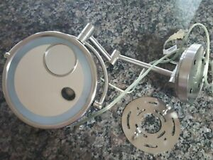 Conair Wall Mounted Magnifying Lighted Mirror Gently Used With All Parts Working