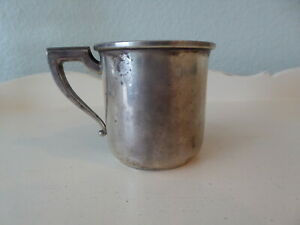 Vintage Antique Christening Baby Cup Sterling Silver W H Co