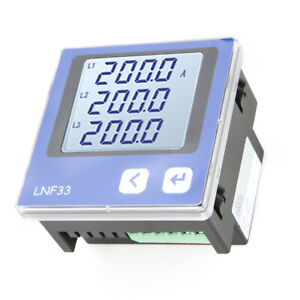 Three Phase Lcd Digital Current Amp Power Meter Ammeter Communication Rs485