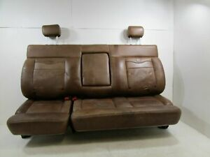 2005 Ford F150 4dr King Ranch Brown Leather Rear Bench Seat Oem