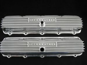 Offy 5595 Oldsmobile 1965 And Up 400 425 455 Motors Finned Valve Cover Set
