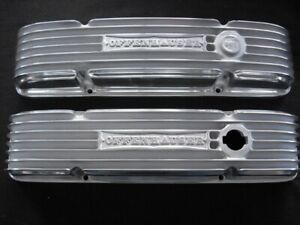 Offy 4056 Sb Chevrolet 1959 And Up 327 350 400 Finned Valve Cover Set