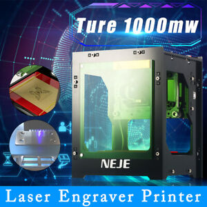 1000mw Mini Laser Printer Carving Cutter Engraving Machine High Speed accuracy