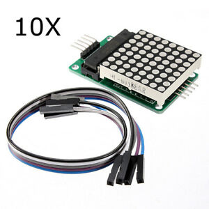10pcs Max7219 Dot Matrix Module Mcu Led Control Module Kit For Arduino