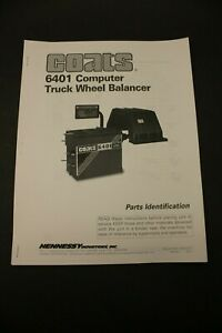 Coats 6401 Computer Truck Wheel Balancer Parts Manual Tire