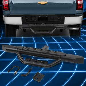 For 2 Receiver Pickup 3 75 X 37 L Steel Rear Bumper Trailer Tow Hitch Step Bar