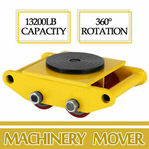 6ton Machinery Roller Mover Cargo Trolley Heavy Duty Machine Dolly Skate 13200lb