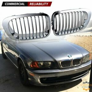 1 Pair Front Kidney Grill Chrome For Bmw E46 325ci 330ci 3 Series 2dr 1999 2002