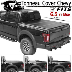 Lock Hard Tri Fold Tonneau Cover For 99 06 Chevy Silverado Gmc Sierra 6 5ft Bed