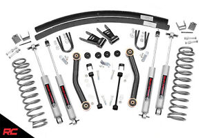 Rough Country 4 5 Lift Kit Fits 1984 2001 Jeep Cherokee Xj 4wd Suspension