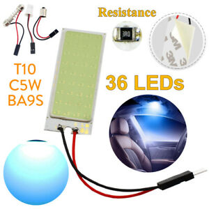 36 Led Cob Car Interior Dome Panel Reading Lamp Vehicle Blue Parking Light Bulbs
