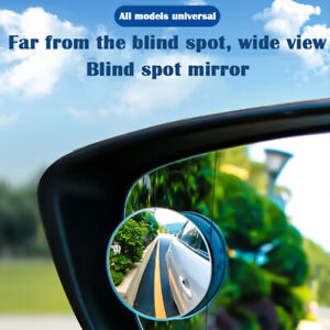 2pcs Car Blind Spot Mirror 360 Adjustable Mirrors Frameless Hd Glass Wide Angle