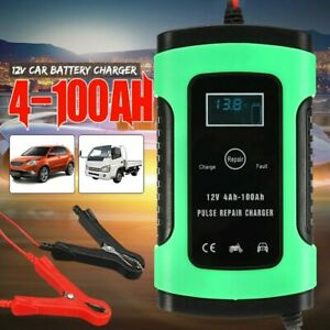 Battery Charger Stanley Starter Lcd Digital Battery Auto Power Jump Bank